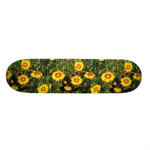 Rising Sun Coreopsis Flower Skateboard