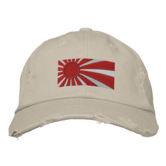 Rising Sun DESTROYED HAT Baseball Cap