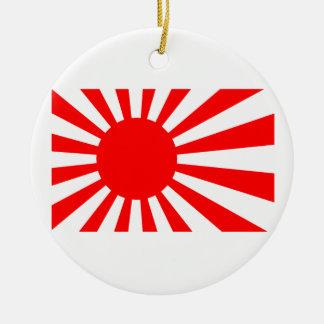 Rising Sun Flag of Japan Round Ceramic Decoration