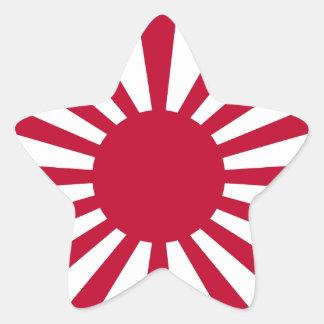 Rising Sun Flag Star Sticker