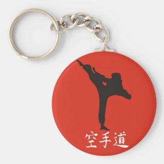 Rising Sun Karate Basic Round Button Key Ring