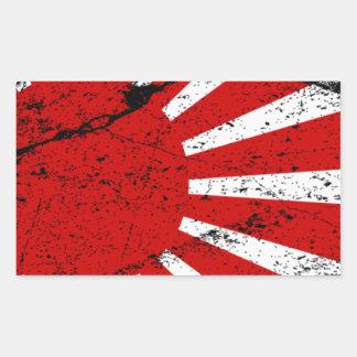 Rising Sun Rectangular Sticker