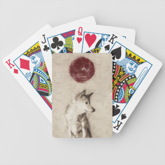Rising Sun Shiba Inu Bicycle Playing Cards