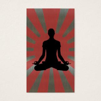 Rising Sun Yoga #4 aluminium style Business Card