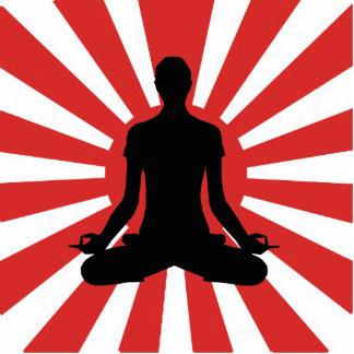 Rising Sun Yoga Meditation Photo Sculpture