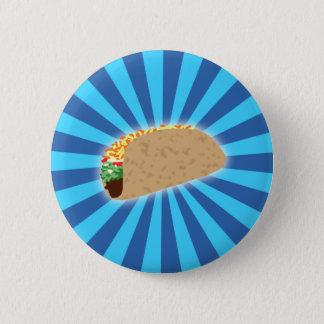 Rising Taco 6 Cm Round Badge