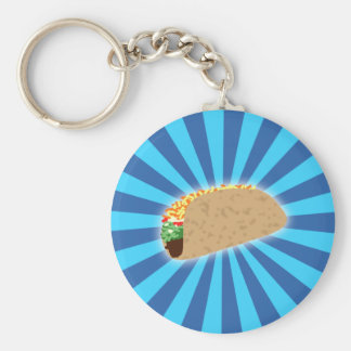 Rising Taco Key Ring