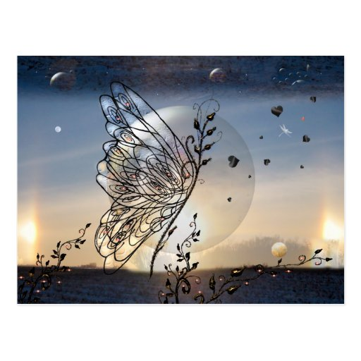 Rising to the Stars Butterfly! Post Card