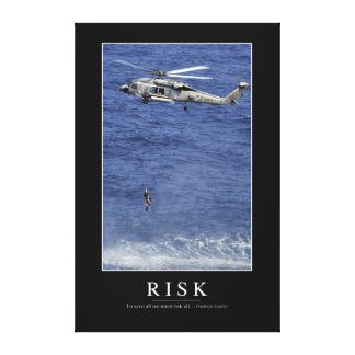 Risk: Inspirational Quote 1 Canvas Print