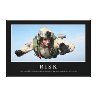 Risk: Inspirational Quote 2 Canvas Print