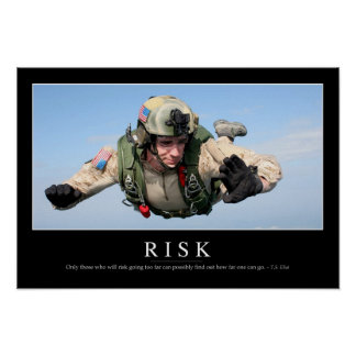 Risk: Inspirational Quote 2 Poster