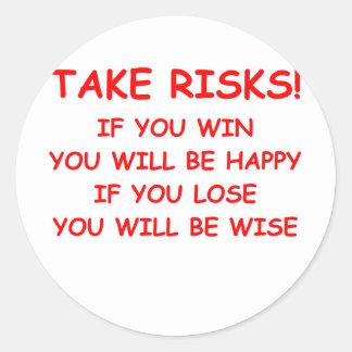 risk round stickers
