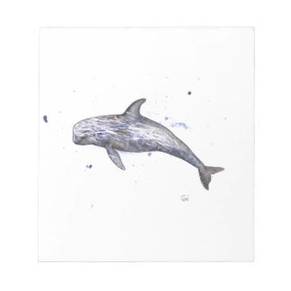 Risso Dolphin Illustration Notepad