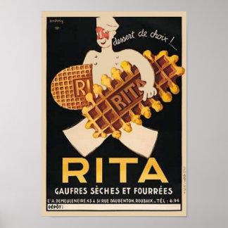 Rita Biscuits Vintage Ad Print
