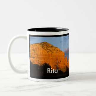 Rita on Moonrise Glowing Red Rock Mug