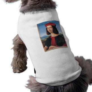 ritratto di uomo 2 by Raffaello Sanzio da Urbino Sleeveless Dog Shirt