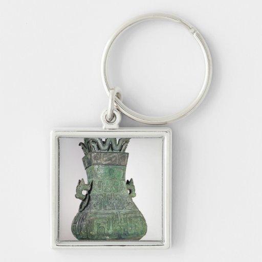 Ritual 'Hu' vase, Chou Dynast Keychain