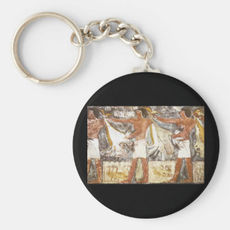 Ritual Offering of Geese_Art of Antiquity Basic Round Button Key Ring