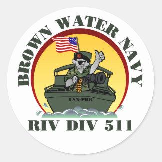 Riv Div 511 Round Sticker
