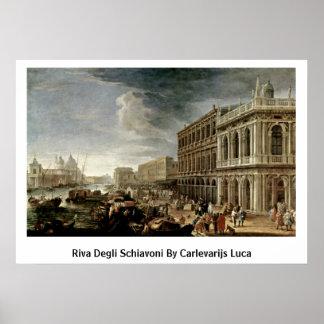 Riva Degli Schiavoni By Carlevarijs Luca Poster