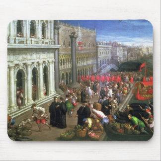 Riva degli Schiavoni, Venice (oil on canvas) (deta Mouse Mat