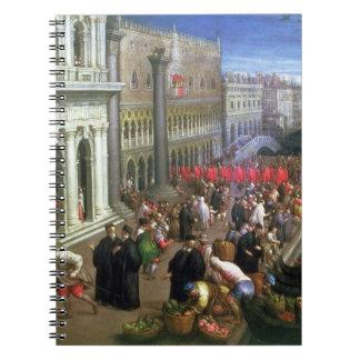 Riva degli Schiavoni, Venice (oil on canvas) (deta Notebooks