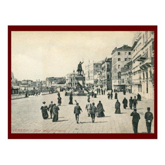 Riva degli Schiavoni, Venice Vintage Postcard