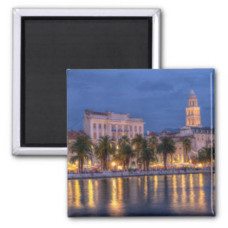 Riva waterfront, Split, Croatia Square Magnet