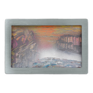 River above the falls rectangular belt buckles