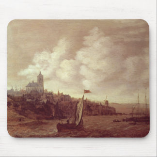 River and City Scene Mouse Pads
