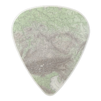 River and Mountain Map of Germany Acetal Guitar Pick
