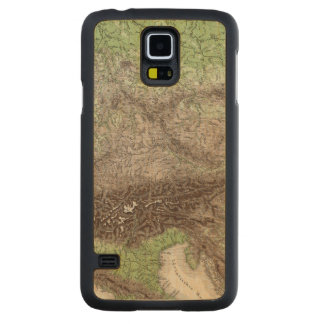 River and Mountain Map of Germany Carved Maple Galaxy S5 Case