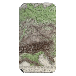 River and Mountain Map of Germany Incipio Watson™ iPhone 6 Wallet Case