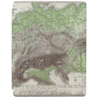 River and Mountain Map of Germany iPad Cover