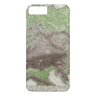 River and Mountain Map of Germany iPhone 8 Plus/7 Plus Case