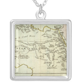 River and Mountains of Africa Silver Plated Necklace