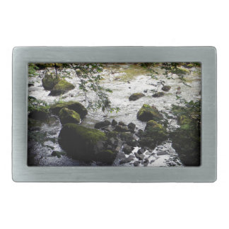 River and rocks Peace Photo Belt Buckle