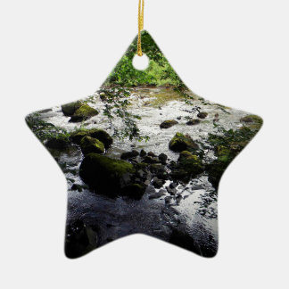 River and rocks Peace Photo Christmas Ornament