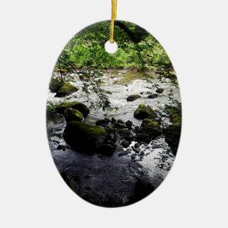 River and rocks Peace Photo Christmas Ornament