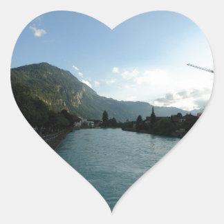 River at Interlaken in Switzerland Stickers