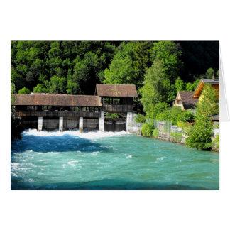 River at Interlaken west in Switzerland Card