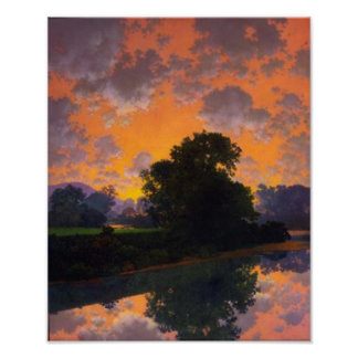 River at Scutney by Maxfield Parrish Poster
