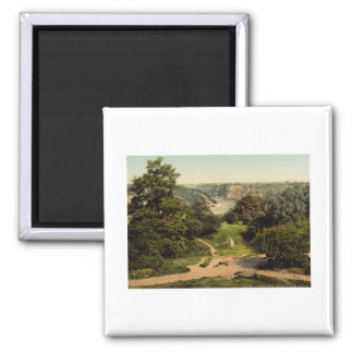 River Avon from Clifton Downs, Bristol, England Square Magnet