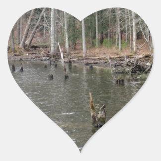 River Bank Heart Sticker