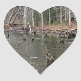 River Bank Heart Stickers
