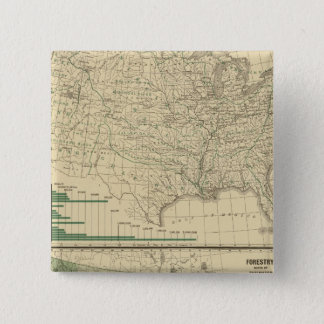 River basins, Forestry 15 Cm Square Badge