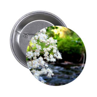 River Blossoms 6 Cm Round Badge