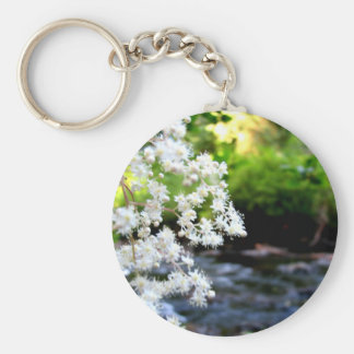 River Blossoms Basic Round Button Key Ring
