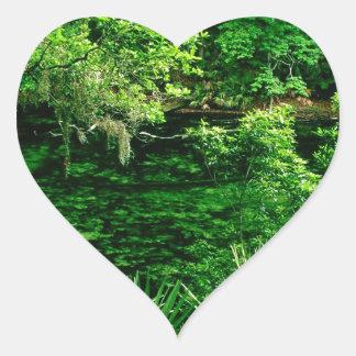 River Blue Spring Florida Heart Sticker