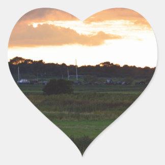 River Blythe Floodplain Heart Sticker